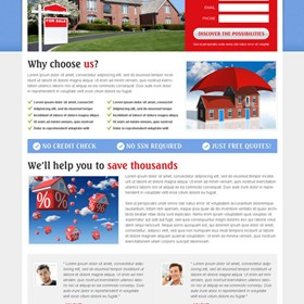 Landing Page Design: Loan and Mortgage Landing Page