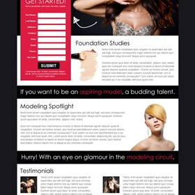 Landing Page Design: Fashion and modelling landing page